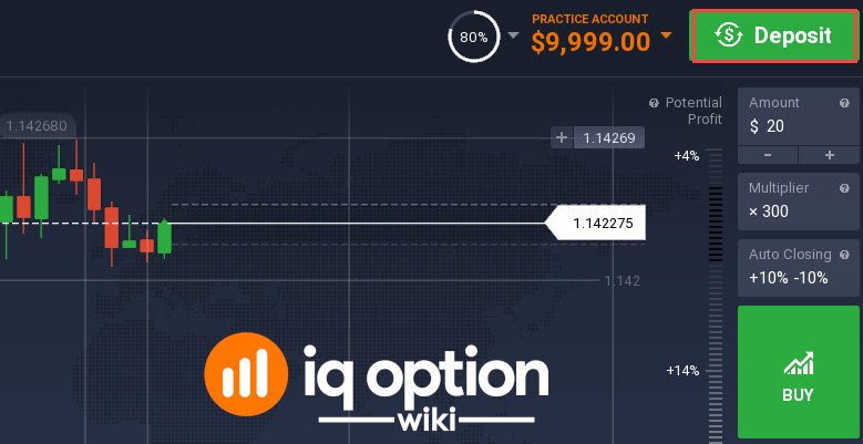 making deposit iq option