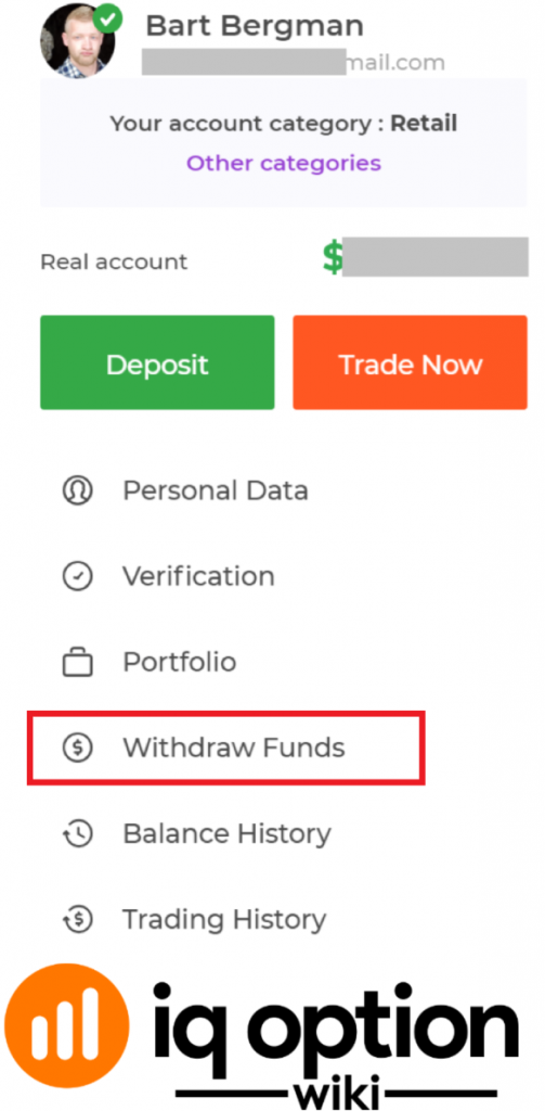 withdraw funds iq option