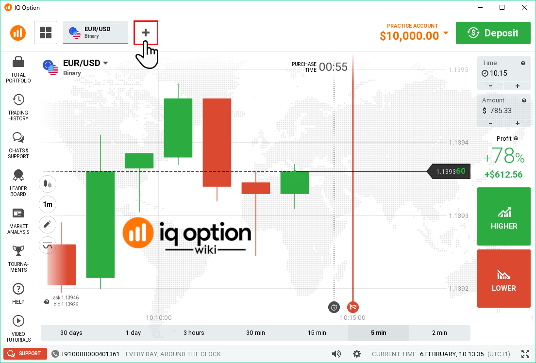 adding instrument to trade iq option