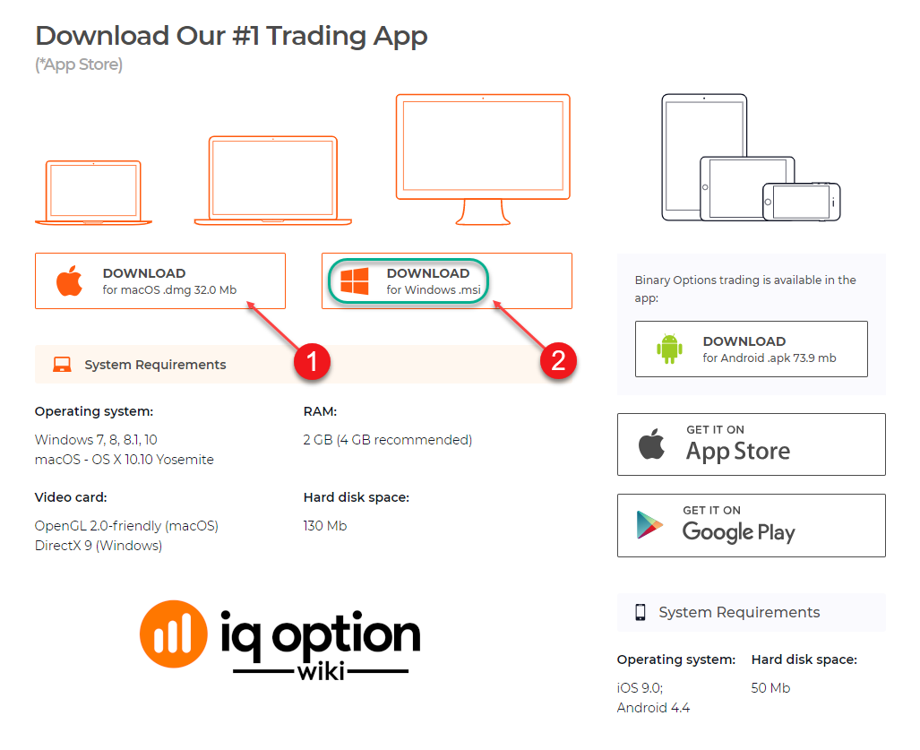 Download iq option app step 2