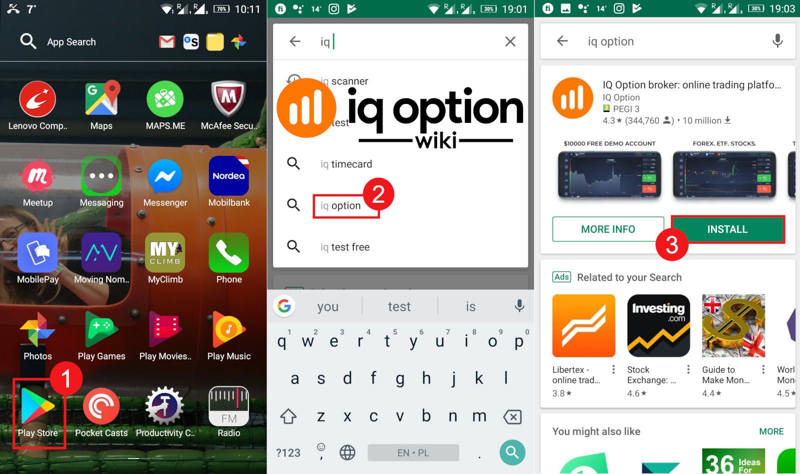 Guide for Downloading and Installing the IQ Option App on