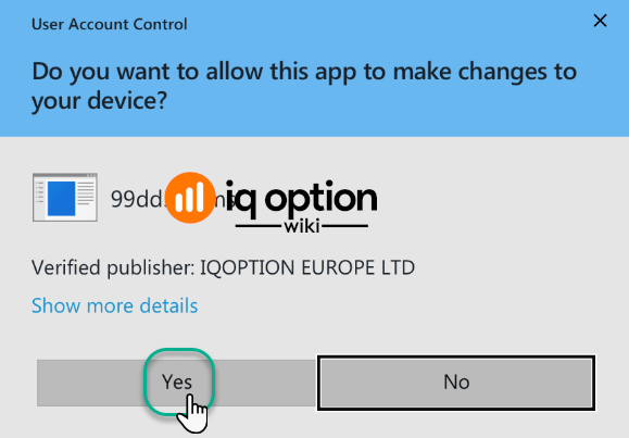 Install iq option app step 2