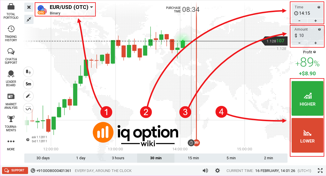 options trading with iq option