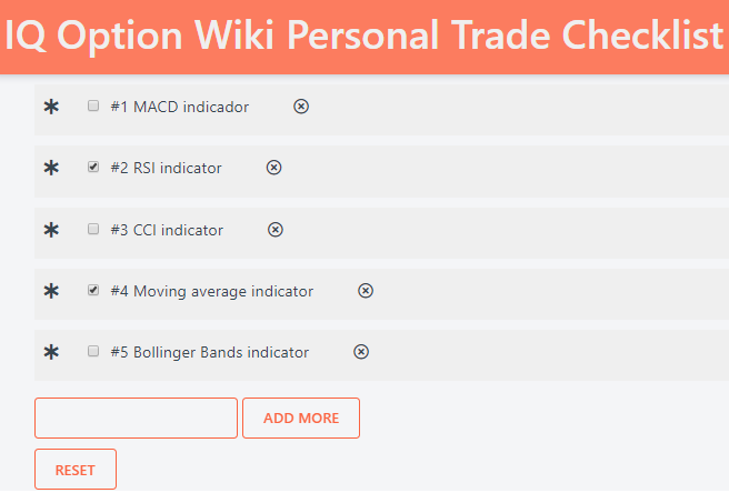 Personal trading checklist 1