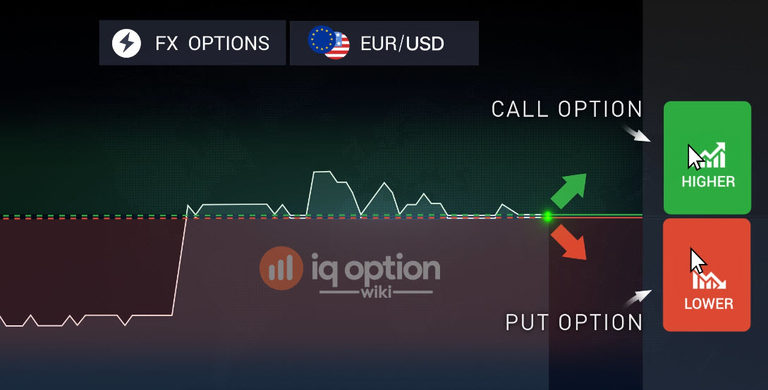 Put and call options at IQ Option
