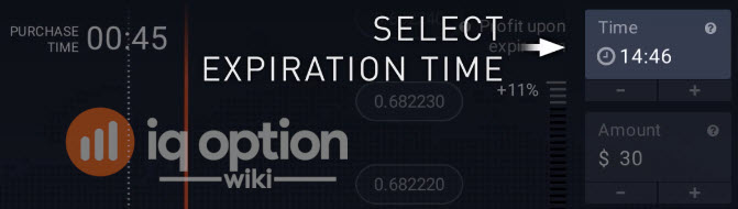 Selecting expiration time