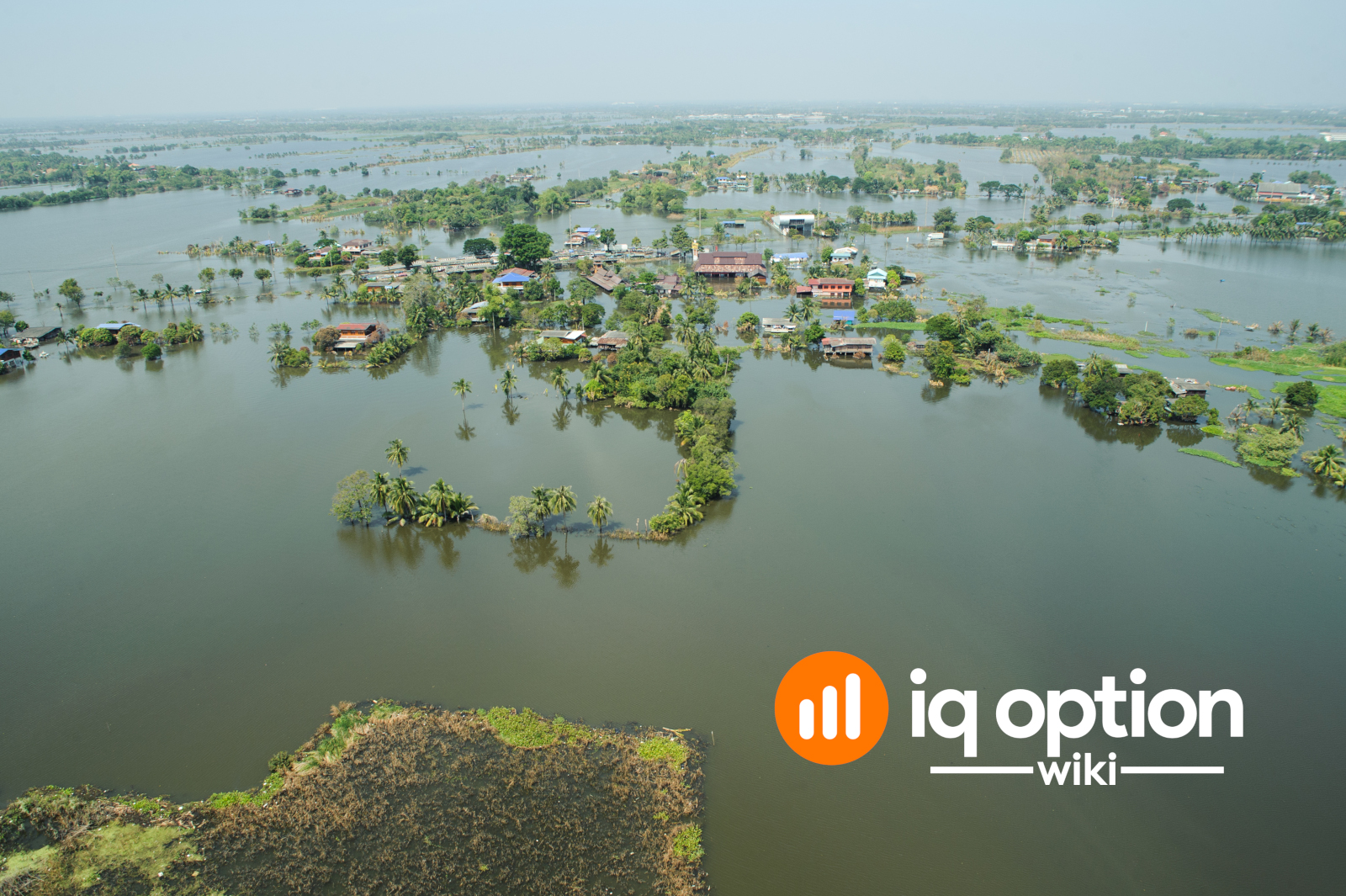 Flood waters overtake a city