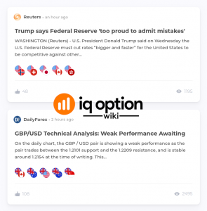 IQ Option website extras
